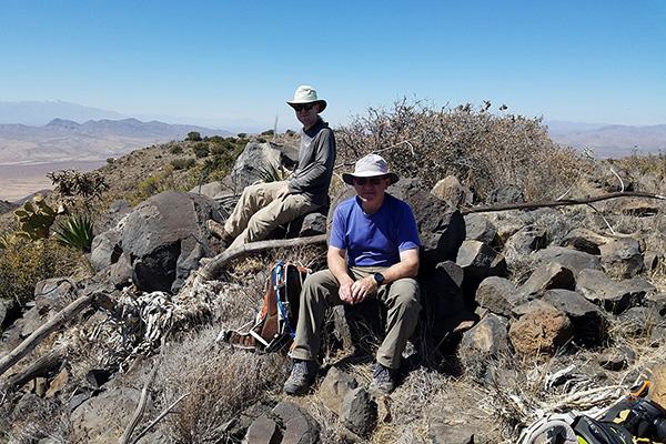 Matthias and Scott on the summit of Whitlock Peak