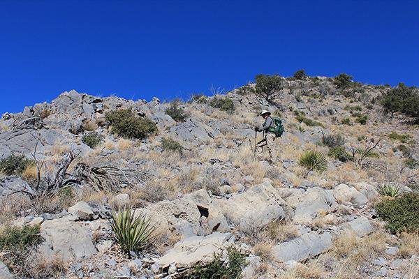 Matthias leading high on the ESE Ridge