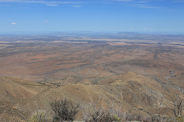 The Whitlock Mountains, Whitlock Peak, and Orange Butte lie to the north