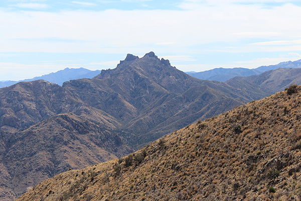 Cochise Head from the north summit of Wood Mountain