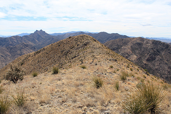 The south summit of Wood Mountain from the north summit